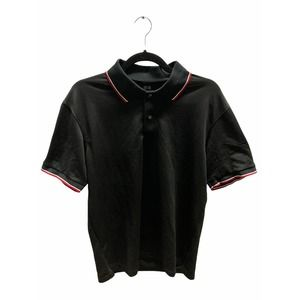 Uniqlo Black with Red Trim Polo Shirt